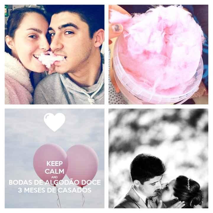 3 meses... bodas de algodão doce - 1