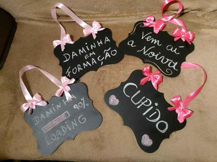 Placas de entrada da noiva - 1