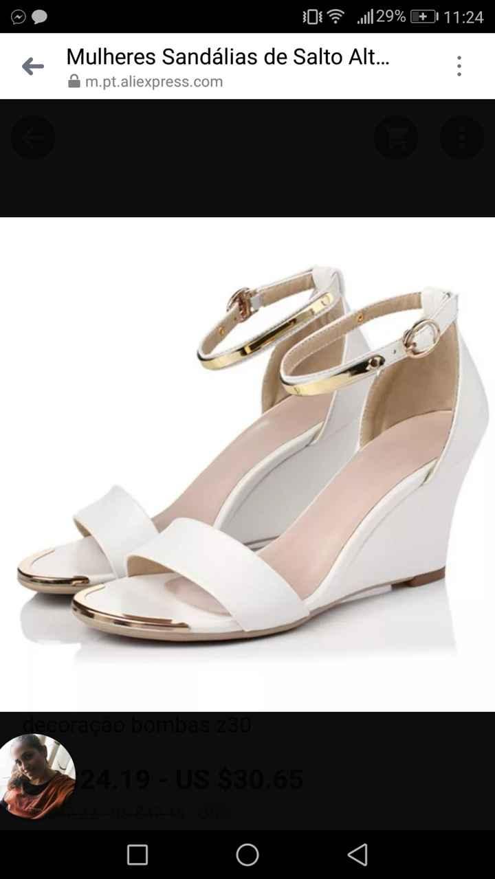 Sapatos Comprados