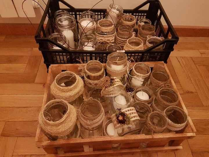 Frascos decorativos e cesto das alianças check ✔ - 2