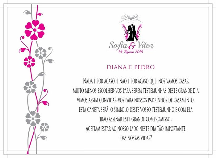 Convite Padrinhos