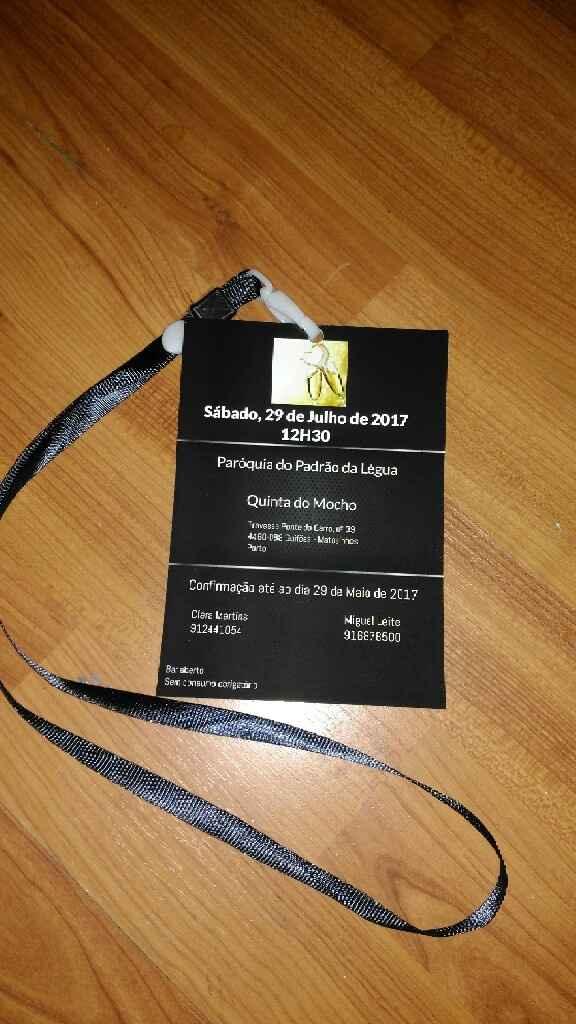 Convite check - 2