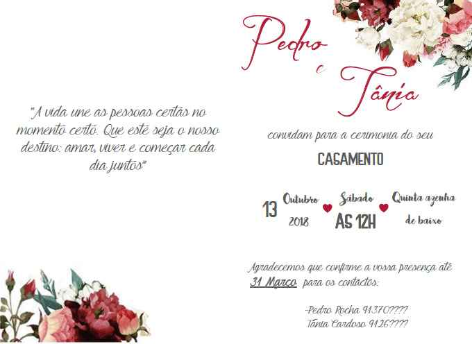 Convite oficializado
