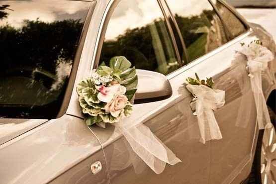 Decoração carro noiva