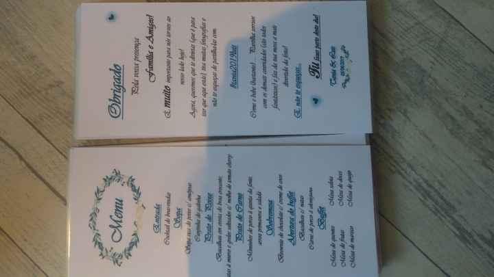 menus e agradecimento