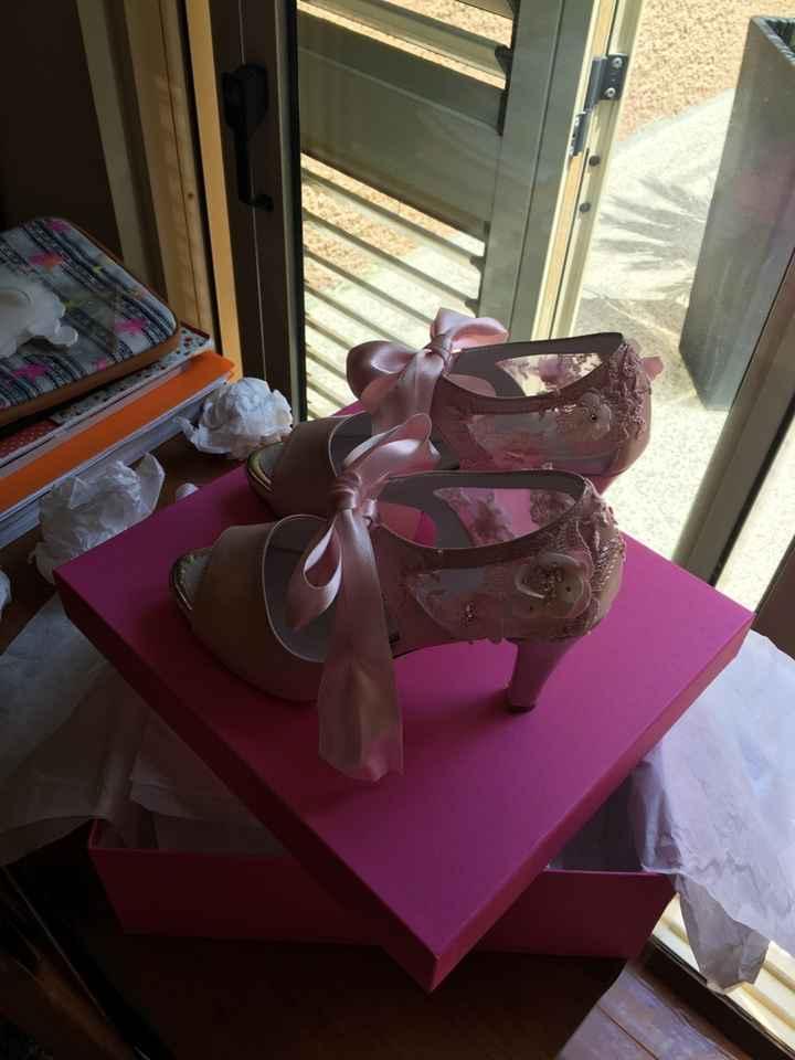 Sapatos rosa claro andiwonder - 1