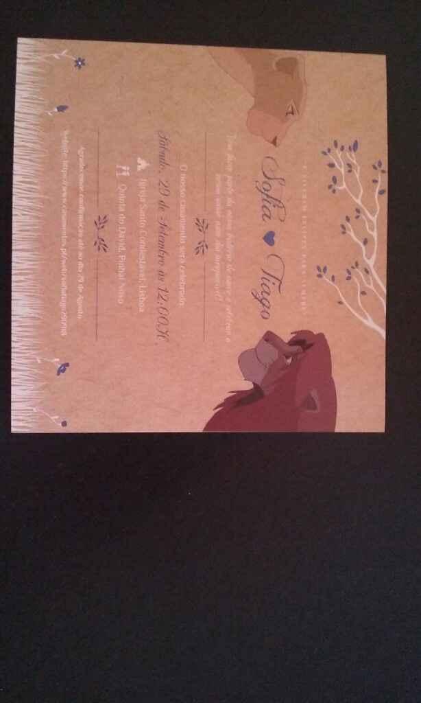 Convites Rei Leão Terminados - 2