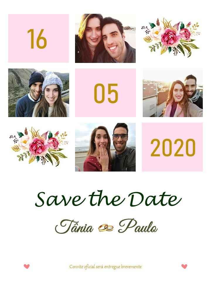 Save the date (em formato digital)