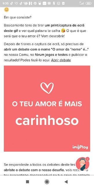 O teu amor é mais.... DESAFIO! 5