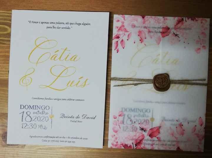 Convites casamento - check! - 1