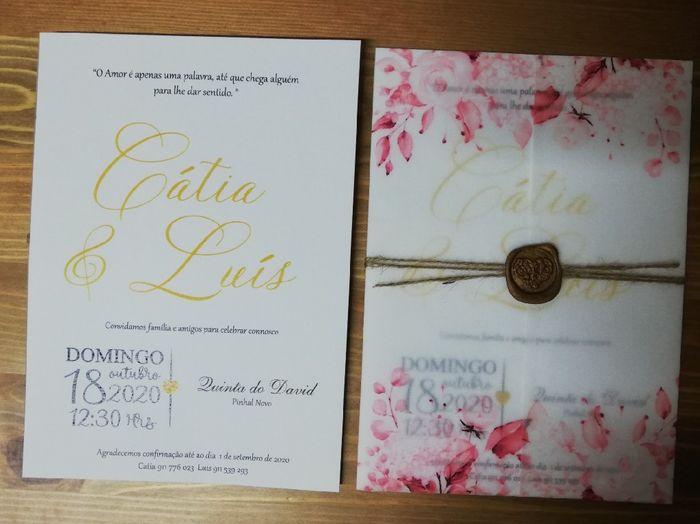 Convites casamento - check! 1
