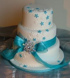 turquoise blue and white wedding cakes tipos de bolo de casamento p 225 3 21306