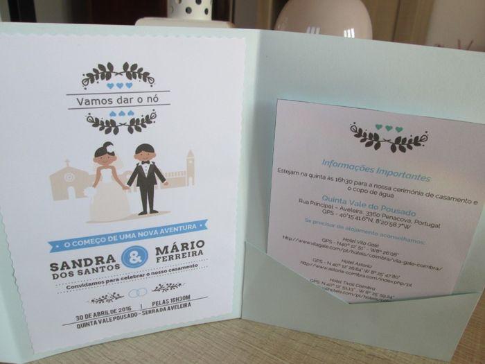 Convite em envelope