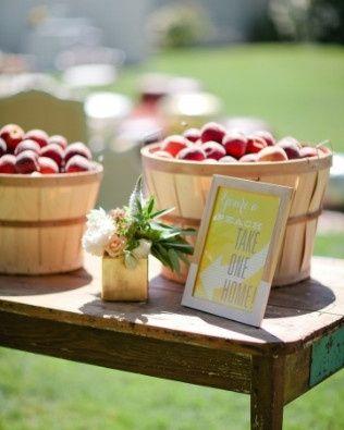 Para o casamento de verão e rústico - que tal uma fruta da época