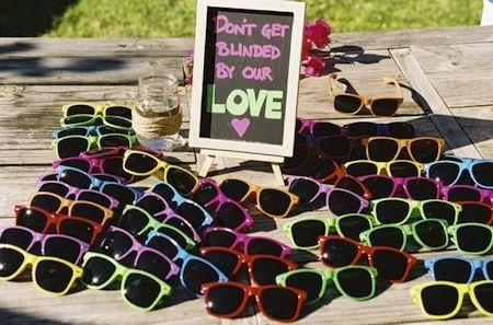 E que tal uns óculos de sol para um casamento no verão