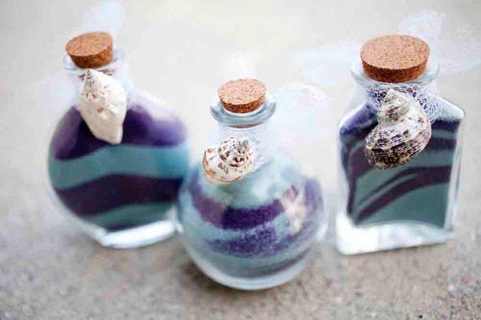 Frasquinhos com areia colorida