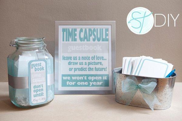 Opção 11 - adorei a ideia de uma cápsula do tempo para só abrir quando se fizer 1 ano de casados <img class=