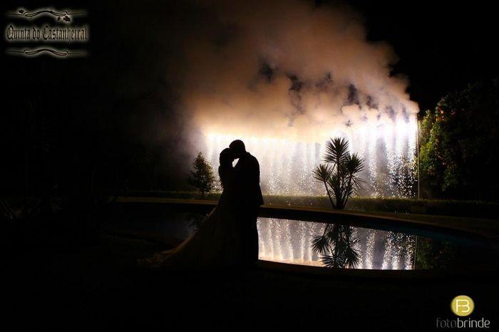 O momento dos noivos