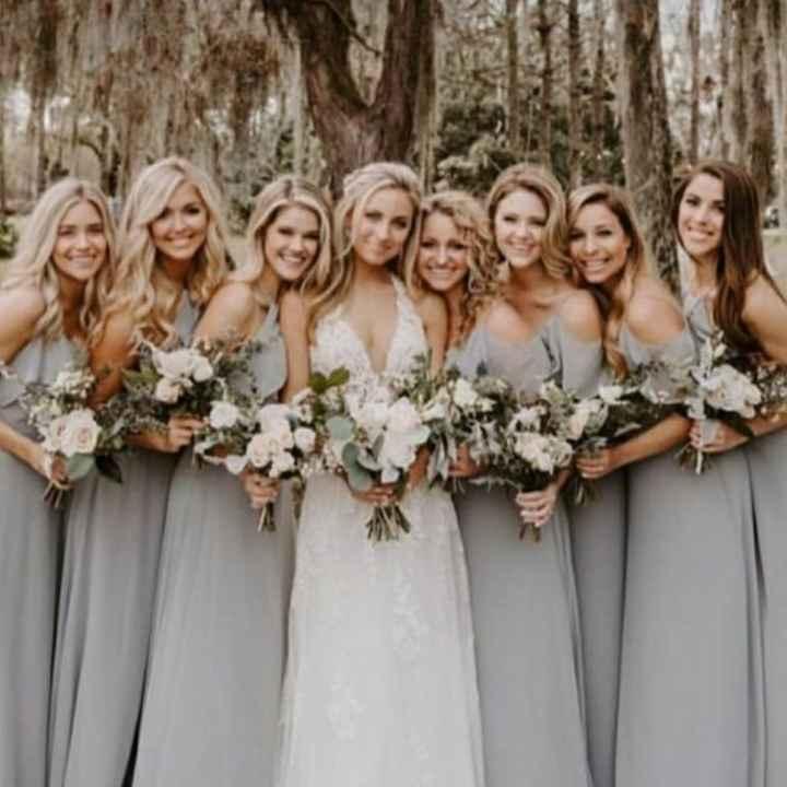 o Arco-íris 🌈 invade a comunidade com inspirações (cinzento) para vestidos de damas de honor 🤍 - 1