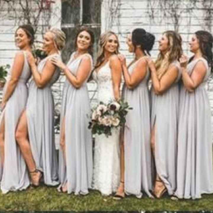 o Arco-íris 🌈 invade a comunidade com inspirações (cinzento) para vestidos de damas de honor 🤍 - 4