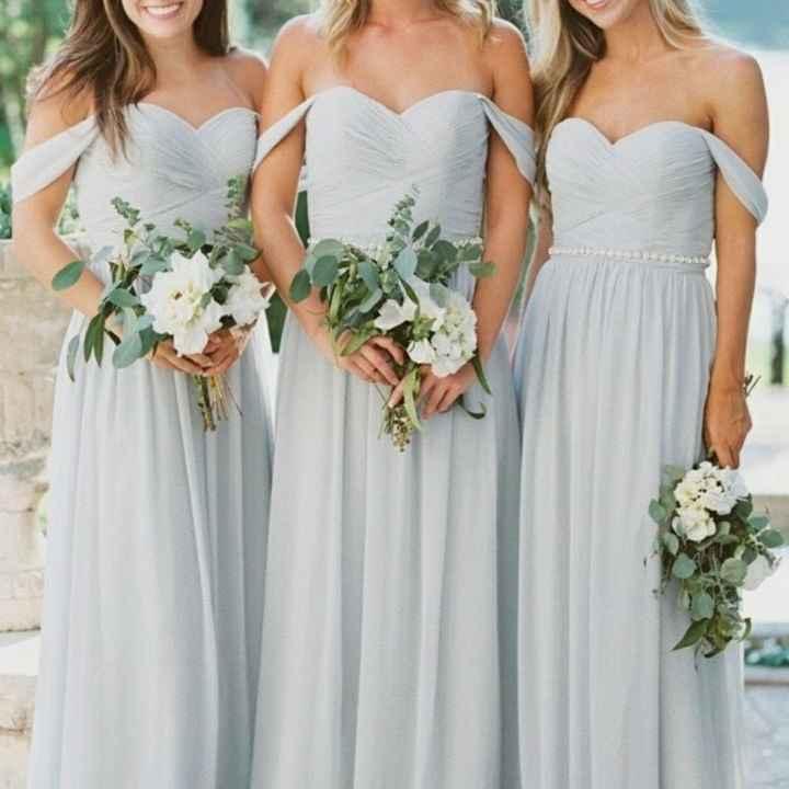 o Arco-íris 🌈 invade a comunidade com inspirações (cinzento) para vestidos de damas de honor 🤍 - 5