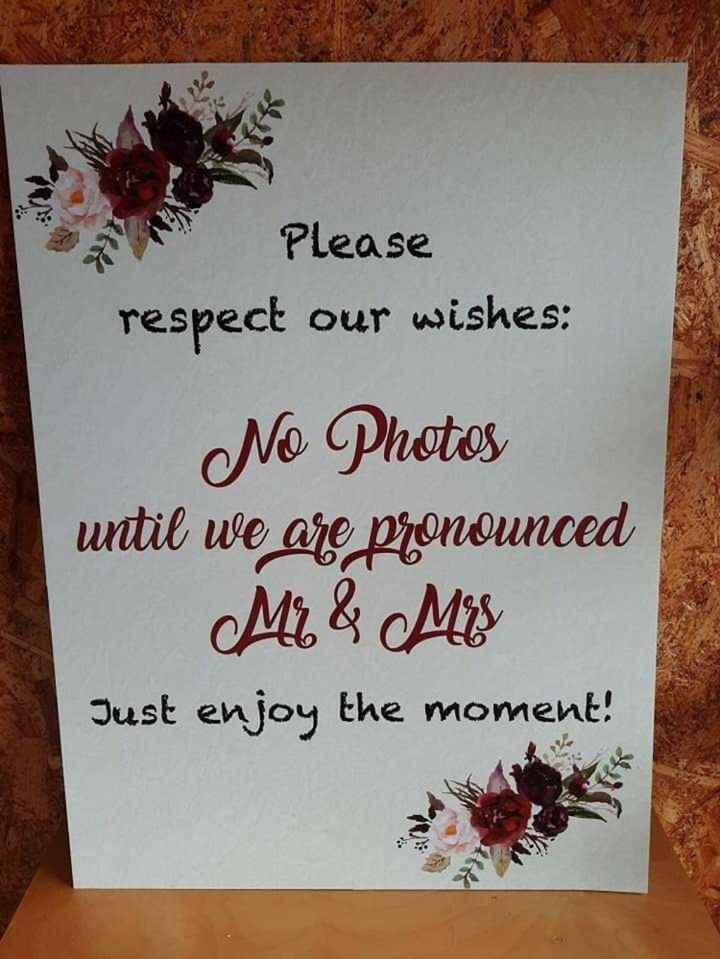 Proibir que os convidados tirem fotos na cerimónia, podes? - 2