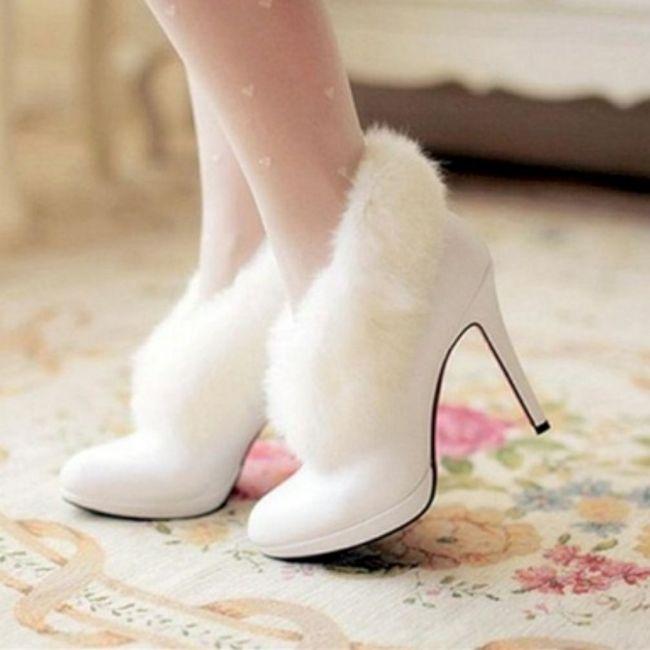 Casamentos de inverno - sapatos da noiva 4