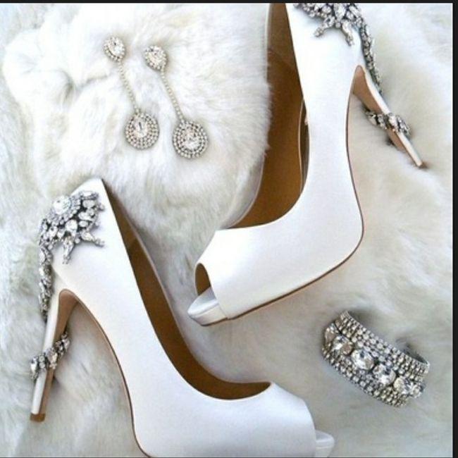 Casamentos de inverno - sapatos da noiva 6