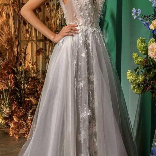 o arco-íris 🌈 invade a comunidade com inspirações (cinzentas) para vestido de noiva 🤍 5