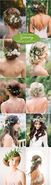 Aplicações florais no cabelo
