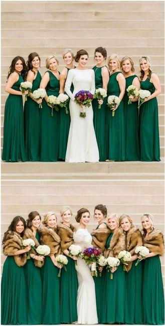 Damas de honor de verde