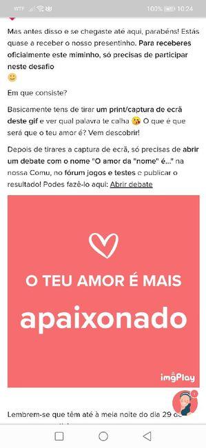 o amor da Alexandra é 1