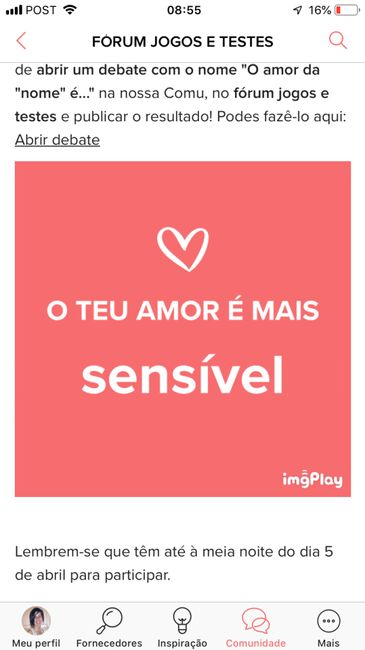 o meu amor é - 1