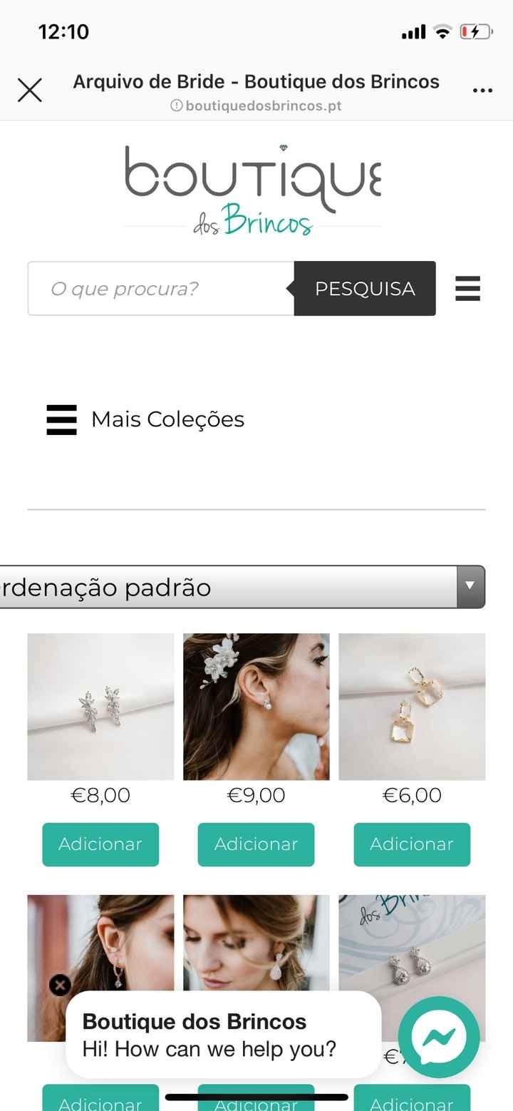 Ajudar o comércio Português- brincos de noiva e Não Só - 1