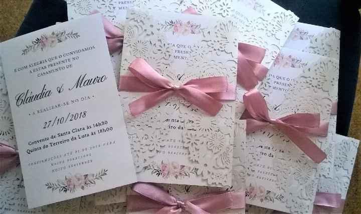 Convites feito pelos noivos - 2