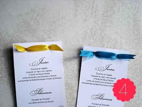 menus do casamento