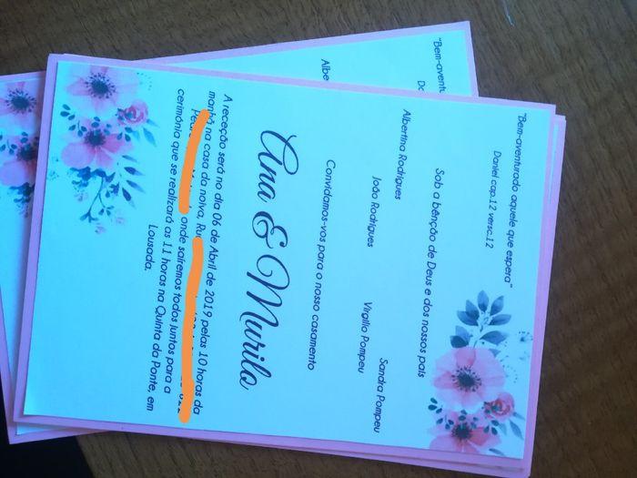 Convites - check 1
