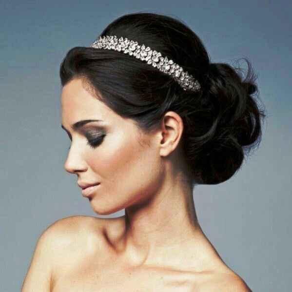 Véu / coroa de flores / tiara - 1