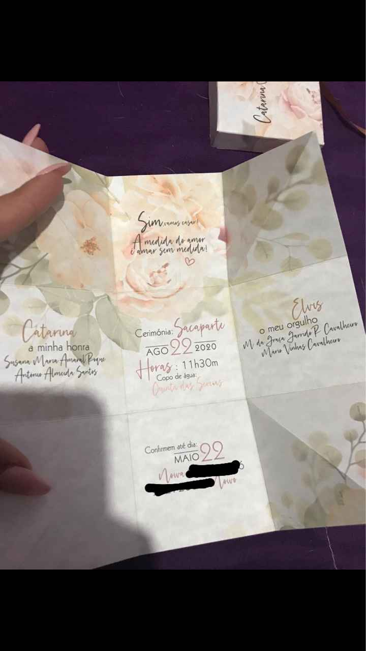 Texto dos convites - 1