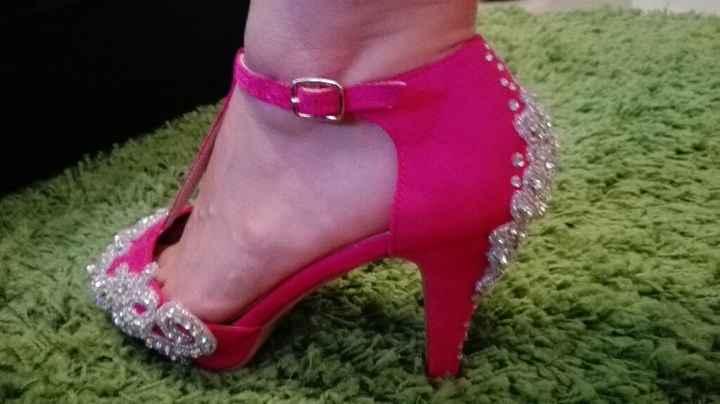 Sapatos rosa fucsia - 1