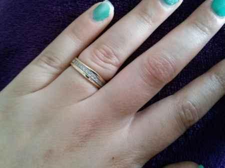 Os nossos aneis de noivado - 1