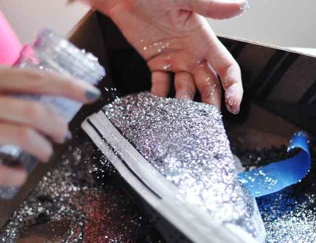 Ténis com glitter
