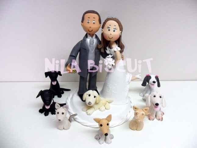 Topo de bolo com animais
