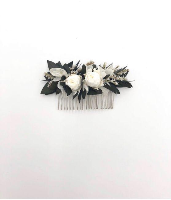 Acessório de cabelo com flores estabilizadas - 2
