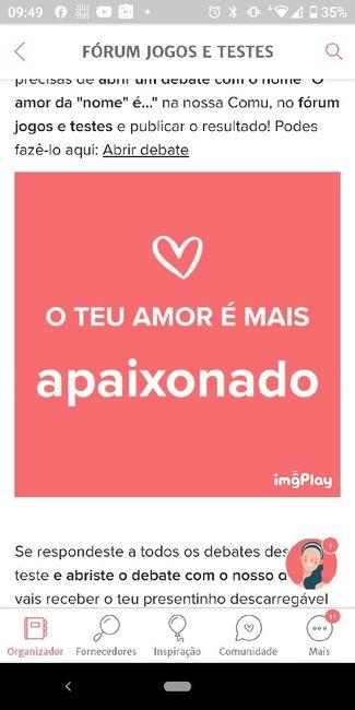 O teu amor é mais.... DESAFIO! 1
