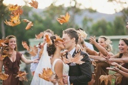 Folhas secas no fim da cerimónia