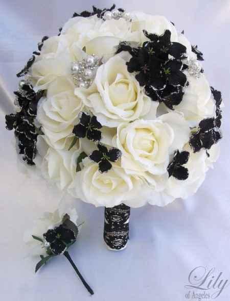 bouquet creme prata e preto