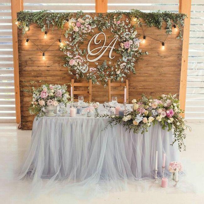 Mesa dos noivos inspirações - 2
