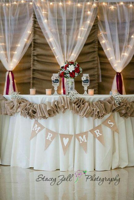 Mesa dos noivos inspirações - 4