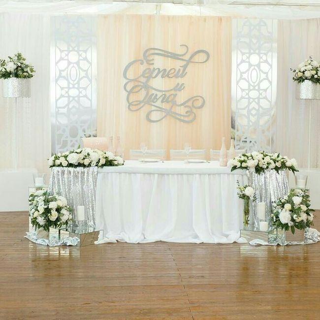 Mesa dos noivos inspirações - 6